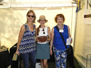 Susan with Teri Alea (Executive Director of Tennessee Craft) and winner of the Collectors'  Tour drawing
